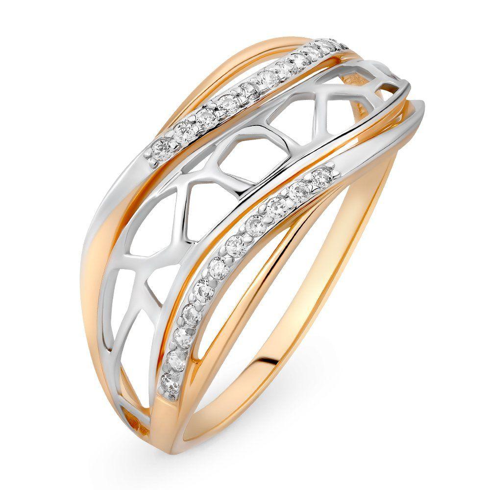 Золотое кольцо с фианитами gotcha 32200
