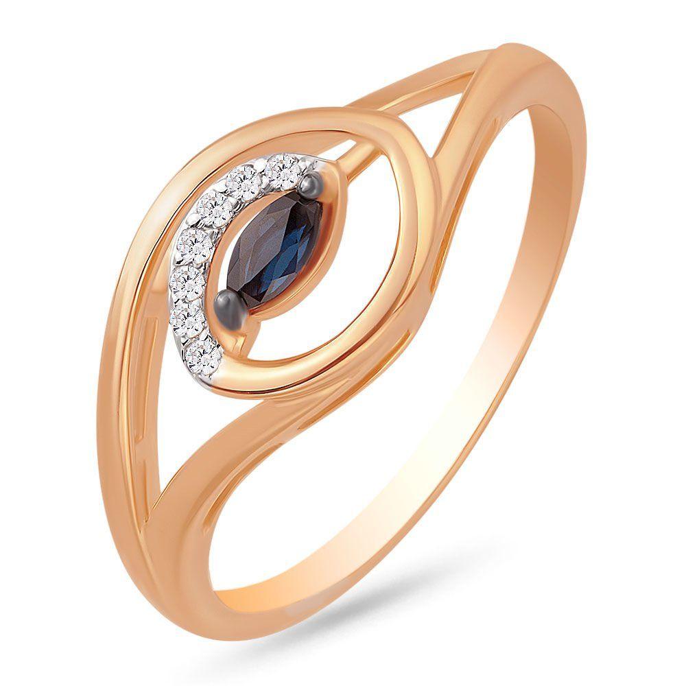 Золотое кольцо с сапфирами gotcha 32200