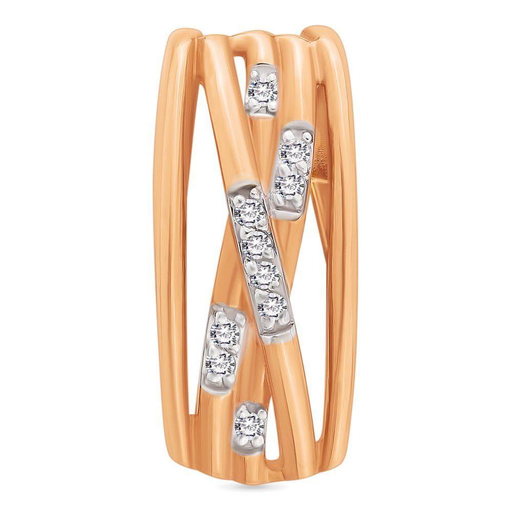 Золотой подвес с бриллиантами