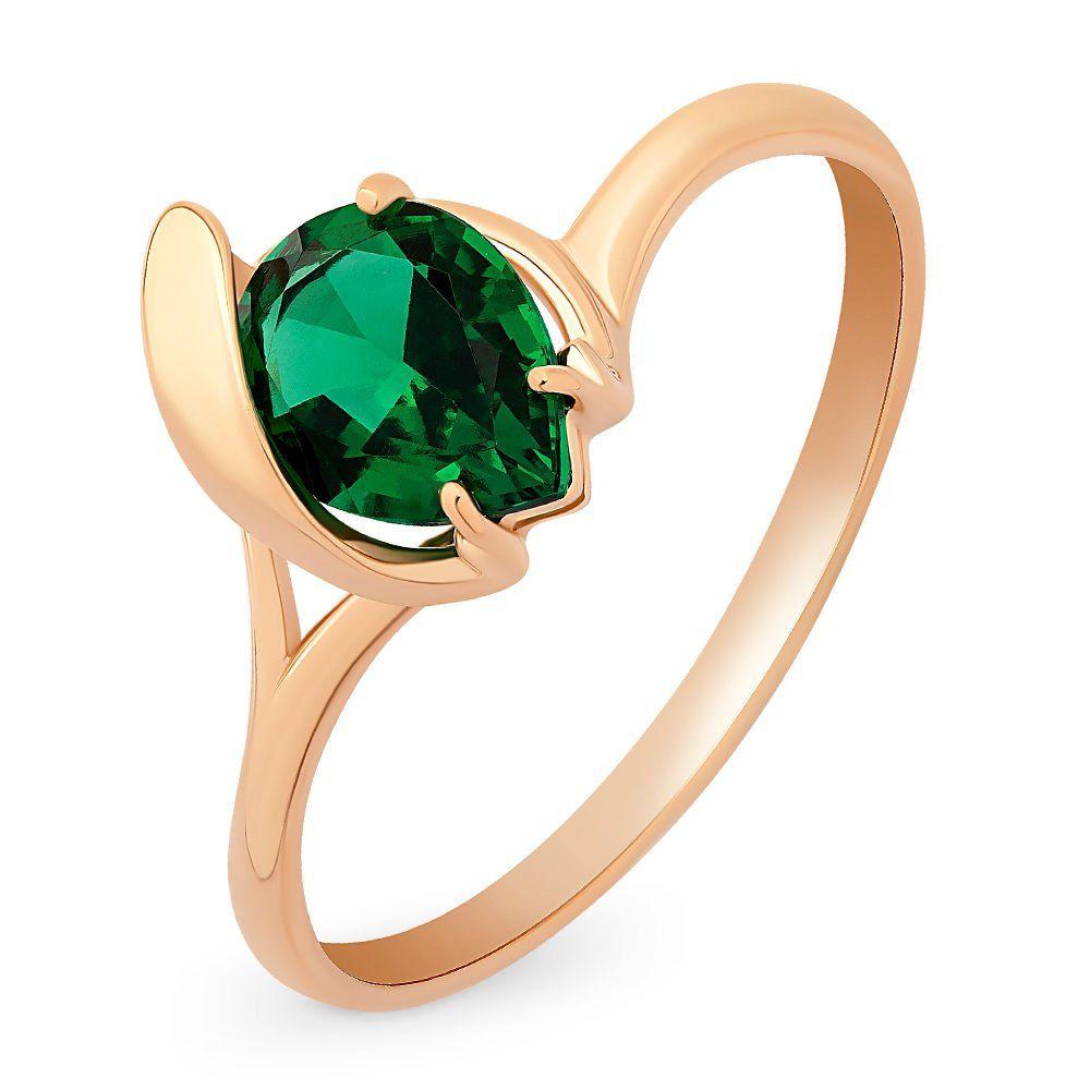 Золотое кольцо с изумрудом кольцо с изумрудом золотое к10616и