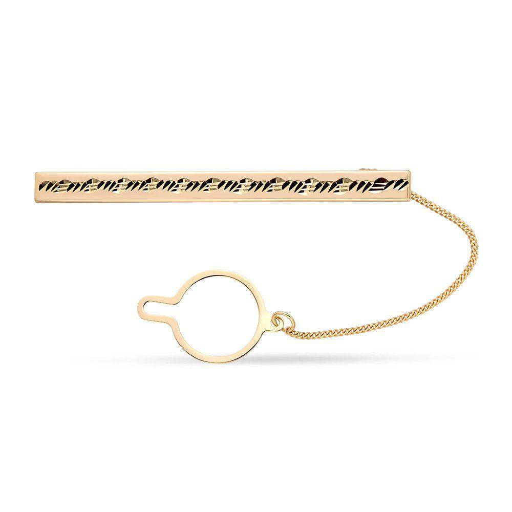 Заколка для галстука из красного золота 585 пробы