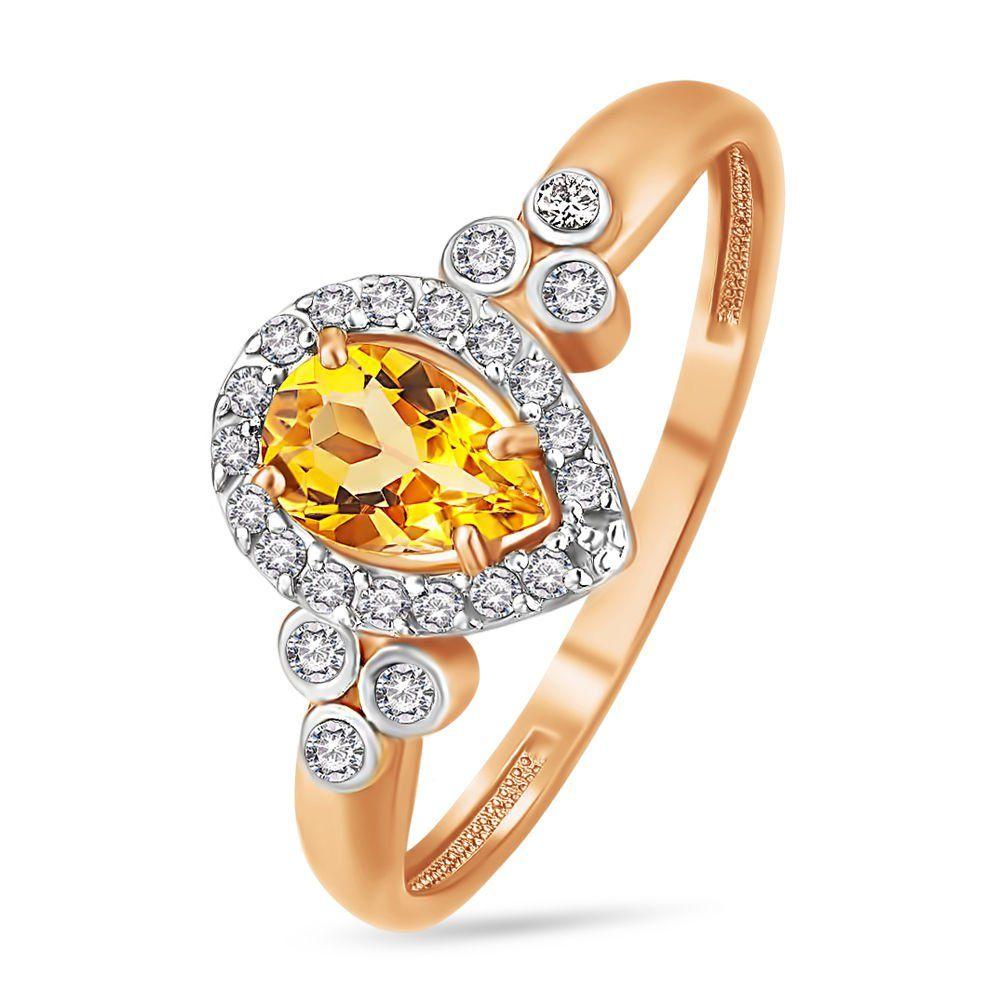 Золотое кольцо с цитринами